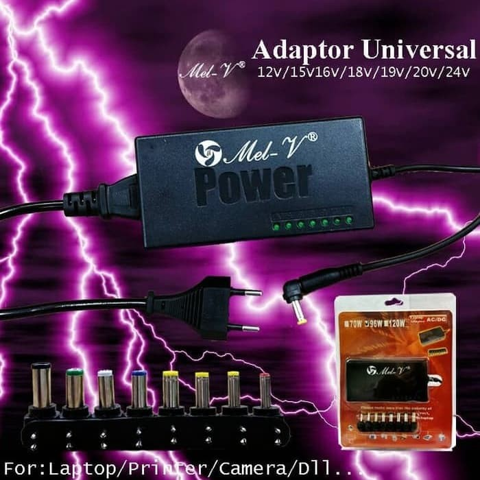 Adaptor Charger Laptop Universal 96W Notebook AC to DC by Mel-V